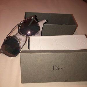 Dior Pink Reflective Glasses